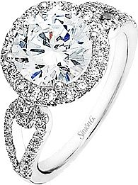Split Shank Pave Diamond Engagement Ring
