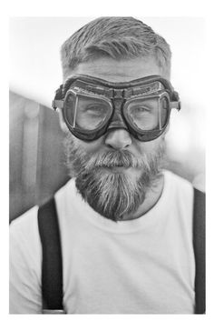 Great beard and better goggles. Not exactly spectacles, but close enough