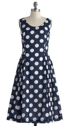 The Classy Reunion Dress in Dots by Emily and Fin