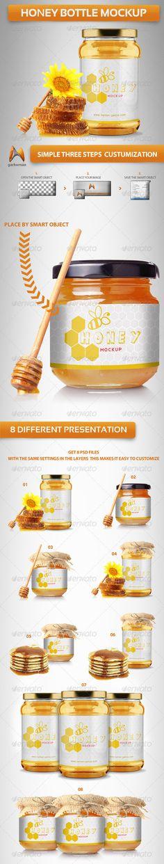 Honey Bottle Mockup - $7