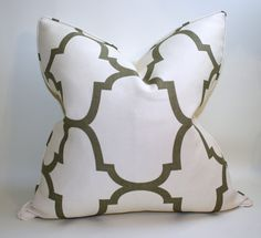 High End Pillow Cover, Kravet Windsor Smith Riad in Coconut Pillow Cover,  Cushion Cover