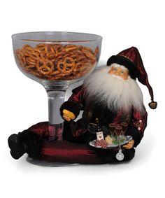 Another great find on #zulily! Wine Santa Snack Dish Figurine #zulilyfinds