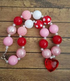 Valentine's Day chunky necklace.  by BowtiqueSpecialities on Etsy