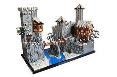 Snowy LEGO castle - Whistlebridge Pass - A Lego a Day #LEGO LEGO Lego