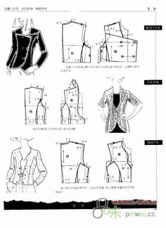 Modeling elements of women's clothing. Discussion on LiveInternet - Russian Service Online Diaries Coat Patterns, Sewing Patterns Free, Clothing Patterns, Dress Patterns, Sewing Hacks, Sewing Tutorials, Sewing Projects, Collar Pattern, Jacket Pattern