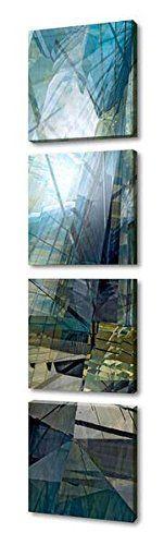 "$$  Menaul Fine Art ""A day In Manhattan Quad"" Limited Edition Multi Panel Artwork, 30 x 1245"", Blue/Gray/Grey/Green"