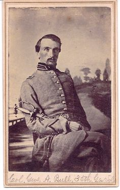The Civil War Parlor-Rare CDV of Lt Colonel Gustavus A. Bull of the 35th Georgia Infantry killed at Seven Pines