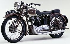 Yes, but Horex copied it from Triumph. They're very different designs-- Triumph is an OHV (pushrod) twin with two gear driven cams,. Indian Motorcycles, British Motorcycles, Triumph Motorcycles, Vintage Motorcycles, Triumph Motorcycle Parts, Motos Triumph, Triumph Bikes, Motos Vintage, Vintage Bikes