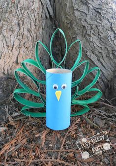 Be sure to keep your toilet paper rolls and make a simple Toilet Paper Roll Peacock!