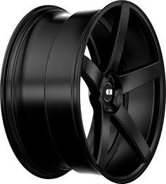 XO Luxury Miami Wheel: Full Matte Black Rear Concave SIZES: 20X8.5, 20X10, 22X9, 22X10.5
