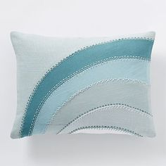 Coyuchi Applique Pillow Cover ($33 on sale, including feather insert)