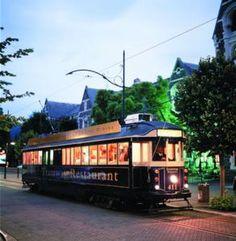 Christchurch Tram restaurant - 6 courses. It was a good night.