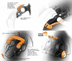 New Looxs Turnlock design sketching - clear presentation of mechanism!