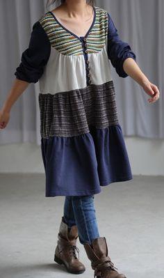 Leisure cotton long shirt dress by MaLieb on Etsy, $72.00