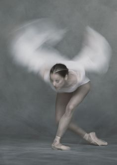 Sophie Martin in David Dawson's brand new Swan Lake. Scottish Ballet. Photograph: David Eustace. World premiere spring 2016.