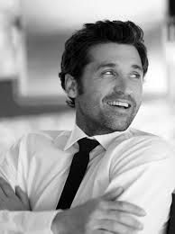 patrick dempsey. Even sexy in black and white. But love his blue eyes