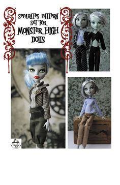 Monster High Doll - Pattern for Separates - Pants, Jacket and Tops