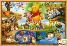 """Jigsaw Puzzles 1000 Pieces """"The world of Pooh"""" $49.9 shipping 15$"""