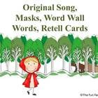 NOTE: THIS INDIVIDUAL ACTIVITY IS INCLUDED IN THE LITTLE RED RIDING HOOD CENTER ACTIVITY BUNDLE.    With this original Little Red Riding Hood song ...