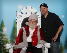 A tradition in my family is taking photos with Santa...way beyond childhood. I found this fantastic Santa in the Denver Airport. Glad I'd been good(ish). - Bryan Gott