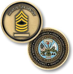 Army Master Sergeant Rank Coin https://store.nwtmint.com/product_details/2621/Army_Master_Sergeant/?cid=391