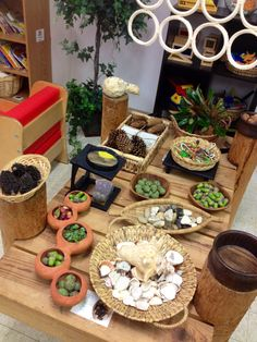 Discovery/nature table at Kinderoo Children's Academy ≈≈