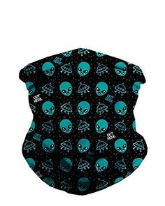 612a5e3ee1 INTO THE AM Galaxy Print Seamless Face Mask Bandanas for Dust