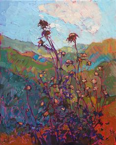 Contemporary impressionism oil paintings for sale by artist Erin Hanson