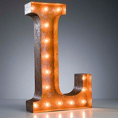"""""""L"""" Marquee Light, $159, now featured on Fab."""