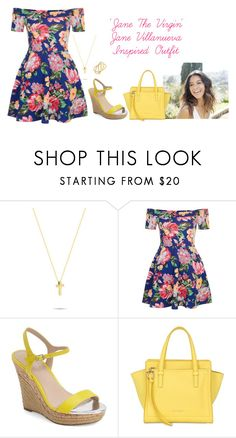 """""""'Jane The Virgin' Jane Villanueva Inspired Outfit"""" by a-torres2018 ❤ liked on Polyvore featuring New Look, Charles by Charles David, Salvatore Ferragamo, Michael Kors, Inspired, janethevirgin and janevillanueva"""