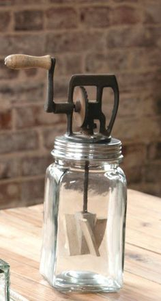 Vintage Style Butter Churn~Glass~Farmhouse Kitchen Decor #Unbranded