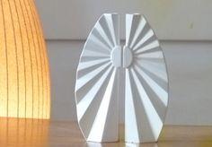 Carmel Gifts - Pair of Sabbath Candlesticks - Ceramic Origami, $159.00 (http://www.carmelgiftshop.com/judaica-and-jewish-holidays/pair-of-sabbath-candlesticks-ceramic-origami/)