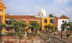 Plaza Santa Teresa Cartagena de Indias Bar Disco, Earth Photos, Santa Teresa, India, Architecture, Taj Mahal, America, Mansions, Country