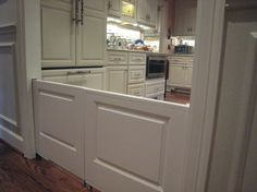 If you are building a new home, add a pocket dog/kid door!...no more ugly gates!