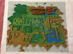 Cross-stitched Legend of Zelda: A Link to the Past map