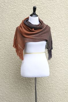 Woven scarf in brown and dark chocolate colors. Perfect gift for her! This woven…