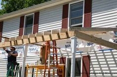 how to build a porch roof - for when we make the porch much much bigger