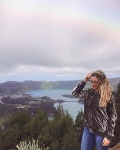 """𝕀ℕ𝔼𝕊 𝔾𝔸𝔾𝔼𝕀ℝ𝕆's Instagram post: """"The earth has music for those who listen 🍀 #azores #açores #nature #peace #rainbow #florest #lake #beautiful #beautifuldestinations #trip…"""" Azores, Rainbow, Peace, Earth, Mountains, Music, Nature, Instagram Posts, Travel"""