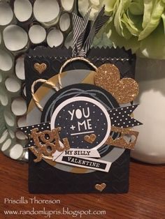 Stampin' Up Mini Treat Bag Thinlits - My special Valentine