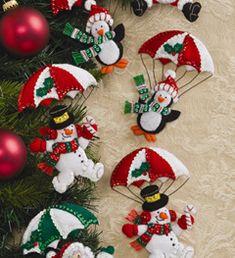 Bucilla ® Seasonal - Felt - Ornament Kits - Dropping In