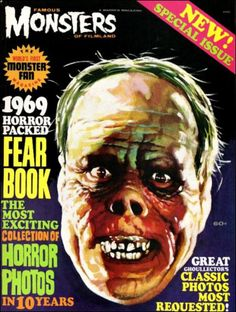 """Famous Monsters of Filmland - 1969 Yearbook - Lon Chaney, """"Phantom of the Opera"""""""