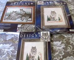 Wolf Wolves Counted Cross Stitch lot