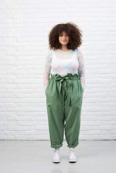 'Eunoia' High Waisted Corduroy Trousers In Mint Green Curvy Girl Outfits, Teenage Girl Outfits, Plus Size Outfits, Cute Outfits, Ethical Clothing, Ethical Fashion, Womens Xmas Jumpers, Plus Size Grunge, Plus Size Summer Fashion