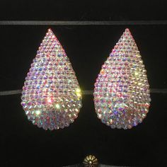Crystal AB Teardrop Rhinestone Burlesque Pasties