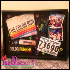 color run shadow box Colleen McDonough, Michele Lill, Jen Lill, Kirsten Makowski Color Run Outfit, Crafts To Make, Fun Crafts, Mind Over Body, Race Bibs, Run Disney, Coloring Book Pages, Courses, Creative Crafts