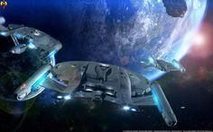 Star Trek USS Enterprise NX-05, NX-01 & NV Class Intrepid