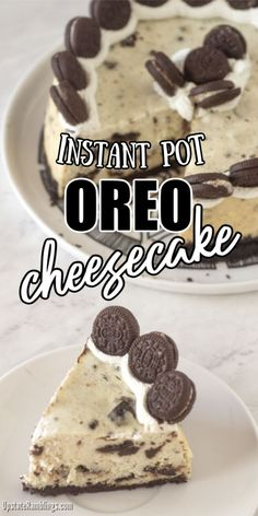 This rich and creamy Instant Pot Oreo Cheesecake is the ultimate cookie and cream cheesecake. This cheesecake has Oreos in the crust, in the filling and on top for a triple dose of Oreos. This pressure cooker cheesecake is rich and delicious! Cookies And Cream Cheesecake, How To Make Cheesecake, Oreo Cheesecake, Cheesecake Recipes, Pressure Cooker Cheesecake, Homemade Snickers, Easy No Bake Desserts, Oreos, Creative Cakes