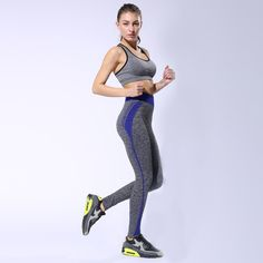 6 colors Women Sport leggings Sport Pants High Waist Stretched Gym Running Tights Women Yoga Pants Fitness Quick Dry