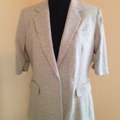 Gray Calvin Klein knit 3/4 sleeve blazer Gray 3/4 sleeve knit Calvin Klein blazer Calvin Klein Jackets & Coats Blazers
