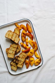 Grilled Panzanella Salad w/ Peaches & Fennel   dolly and oatmeal